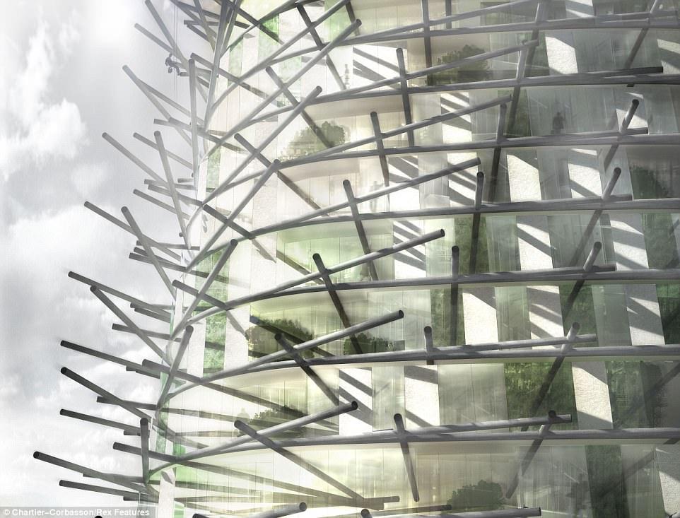 Концепция башни в Лондоне из отходов