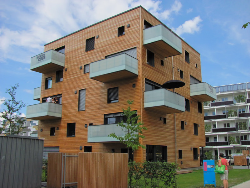 Эко-пятиэтажка WoodCube архитектурного бюро Architekturagentur