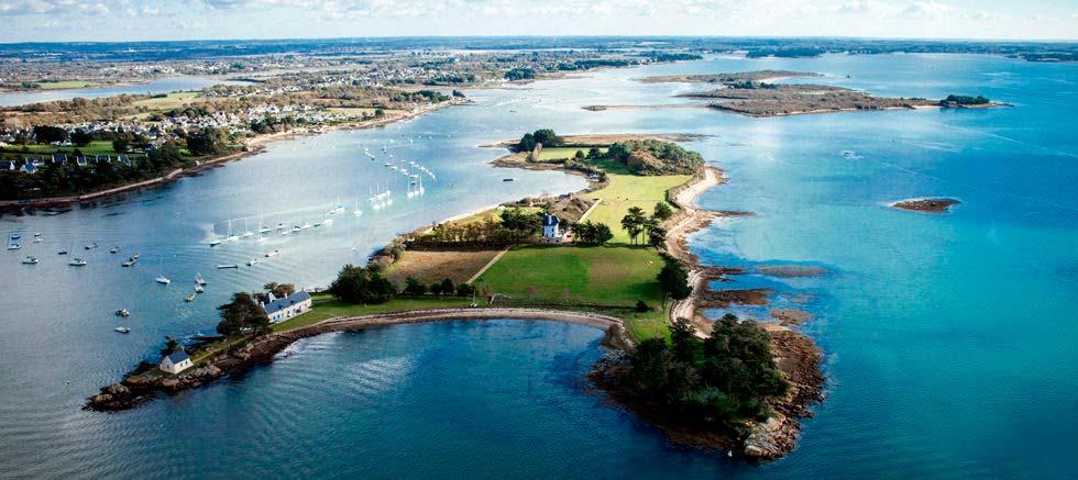 Остров Боедик во Франции с высоты птичьего полёта