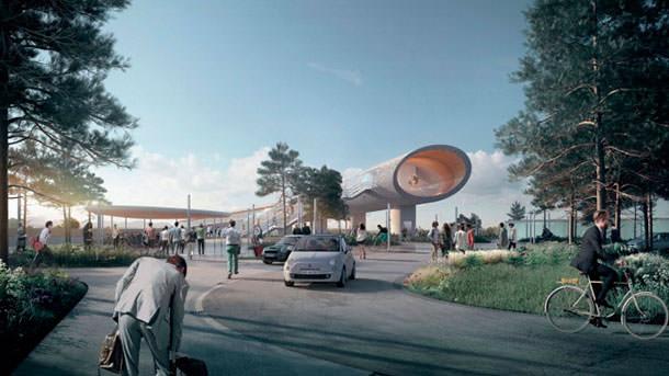 Новый транспортный терминал в Кёге