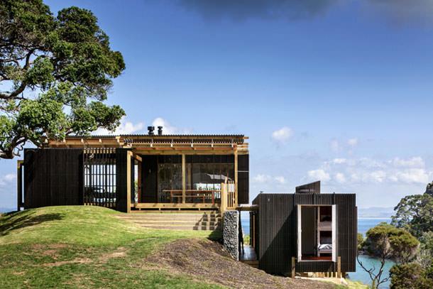 Пляжный дом на берегу океана в Новой Зеландии | фото
