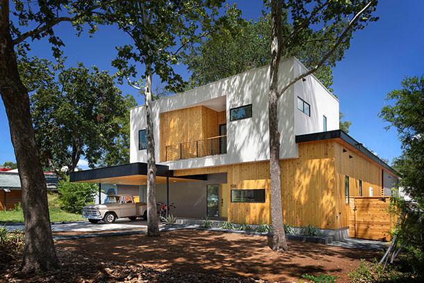 Деревянный дом в Техасе от Matt Fajkus Architecture | Фото