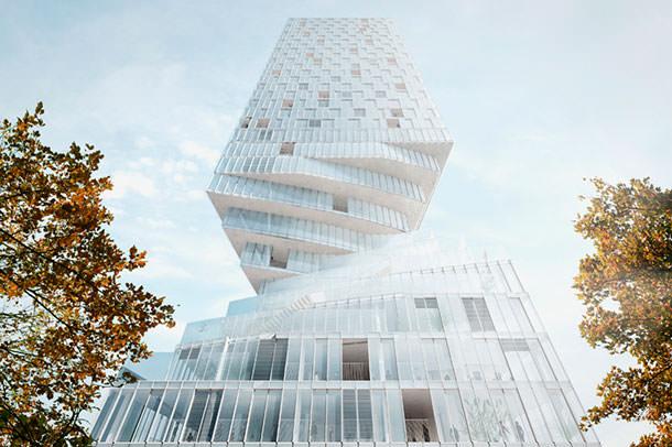 Первая башня с «талией» появится в Вене. Проект бюро MVRDV
