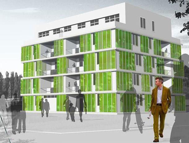 Необычный «зеленый» дом BIQ House строят в Гамбурге | фото