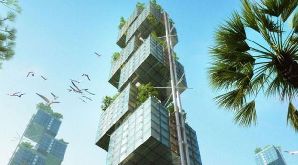 Проект небоскреба Elastic Woodscraper II от Weingartner Architects