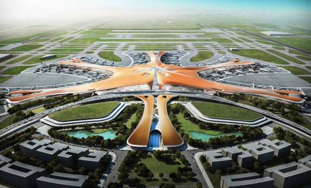 Терминал Нового аэропорта в Пекине от Захи Хадид