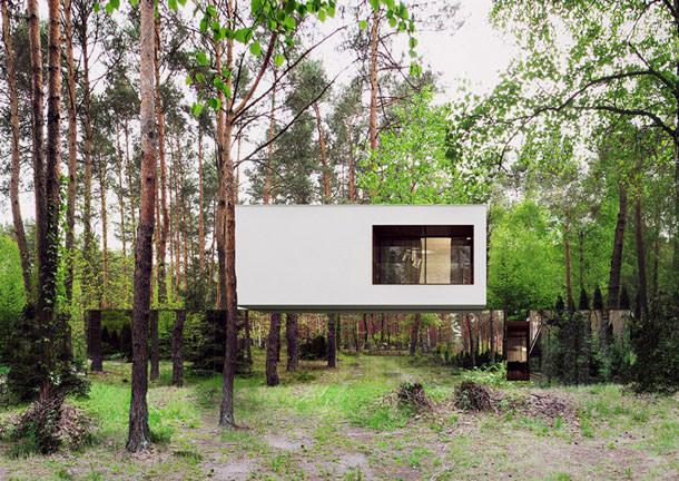 Зеркальный дом среди деревьев от Reform Architekt | фото