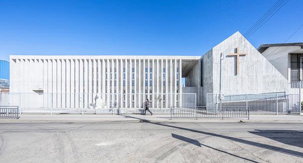 Школа Санта Роза по проекту LAND Arquitectos в Чили