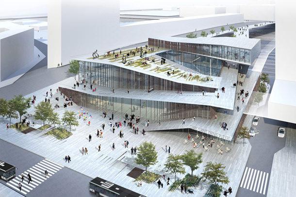 Проект железнодорожной станции в Париже от Kengo Kuma