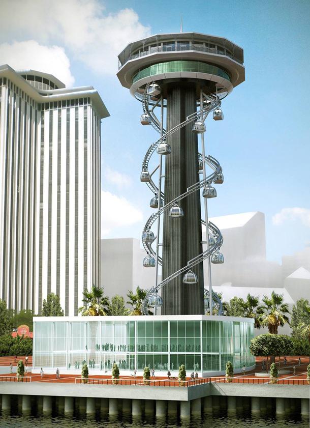 Проект башни Tricentennial Tower в Новом Орлеане от Perez