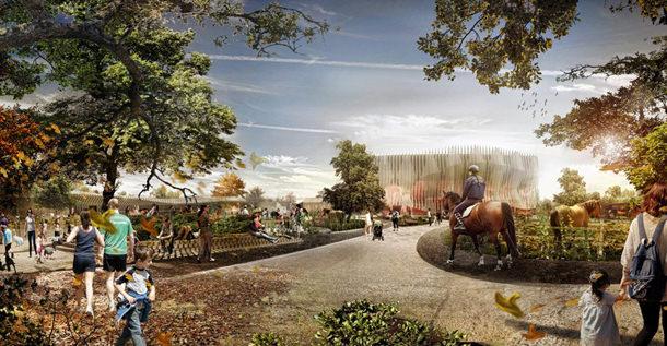 Проект парка развлечений Apassionata в Мюнхене от Graft Architects