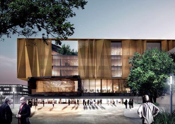 Центральная библиотека Крайстчерча. Проект Шмидта Хаммера
