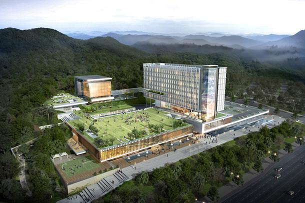 Проект правительственного комплекса Ulju в Корее от SAMOO