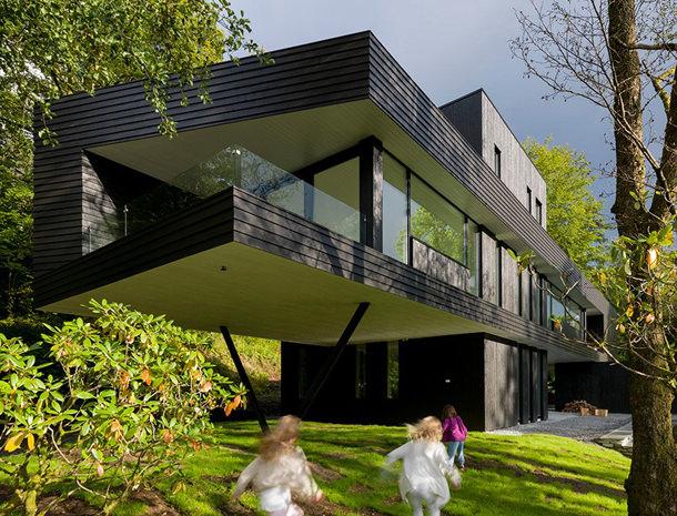 Загородная вилла в Норвегии от Saunders Architecture   фото