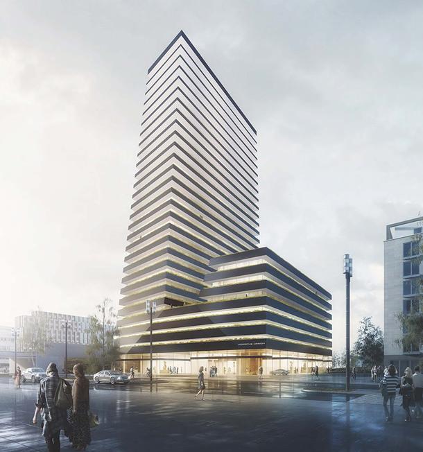 Во Франкфурте появится башня Porsche Design | фото, проект