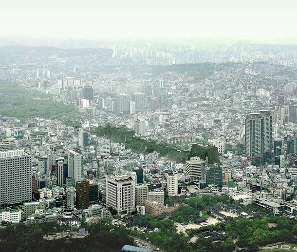 Проект озеленения квартала в Сеуле от AZPML