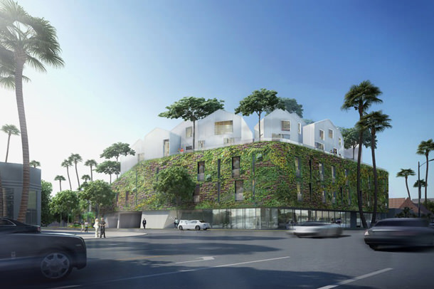 Деревня посреди Лос-Анджелеса. Проект MAD Architects