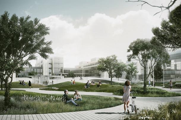 Проект площади для Университета Копенгагена от COBE