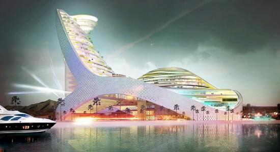 Аквапарк «Avaza aqua park» в Туркменистане от JDS Architects