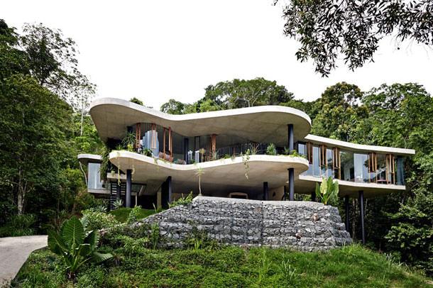 Студия Jesse Bennett построила дом в тропическом лесу