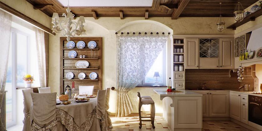 Обустраиваем гостиную в стиле Прованс. Цвета и материалы