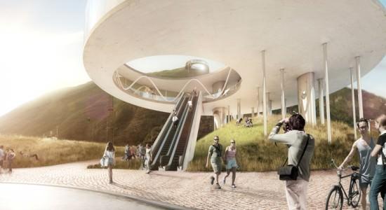 Проект смотровой площадки от Snøhetta в Больцано