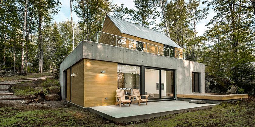 Дом у озера в Канаде. Проект YH2 Architecture | фото