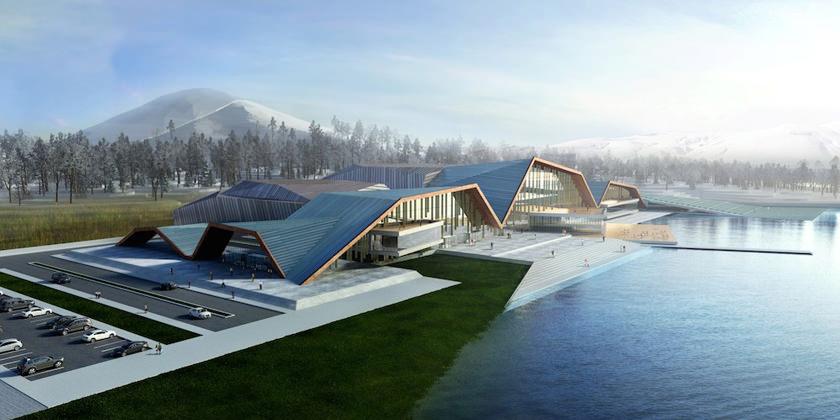 Оздоровительный комплекс Losev Natural Life Center & Drugless Therapy Institute от Muum Architects в Турции