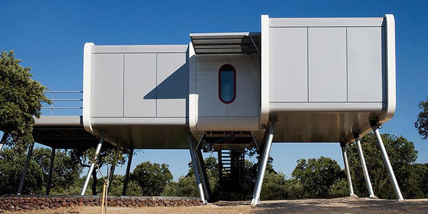 Дом в виде космического корабля от NOEM | фото, проект, инфо