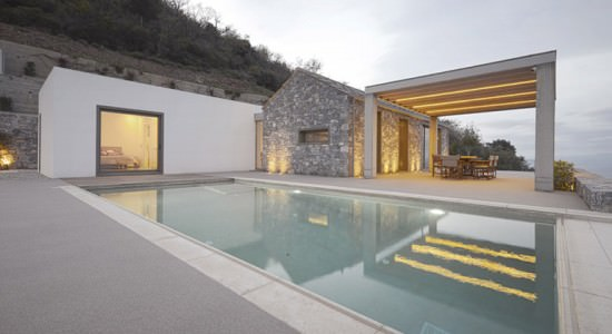 Вилла в Греции на берегу моря Villa Melana | фото, инфо