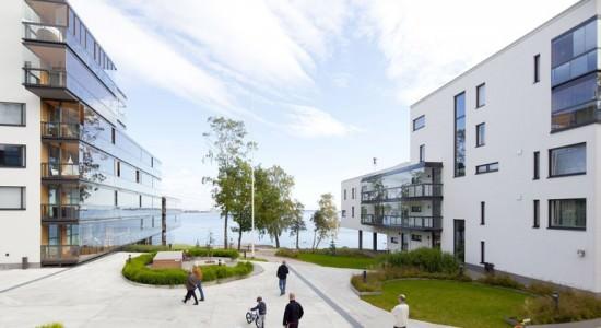 Жилой комплекс на берегу Финского залива в Хельсинки | фото