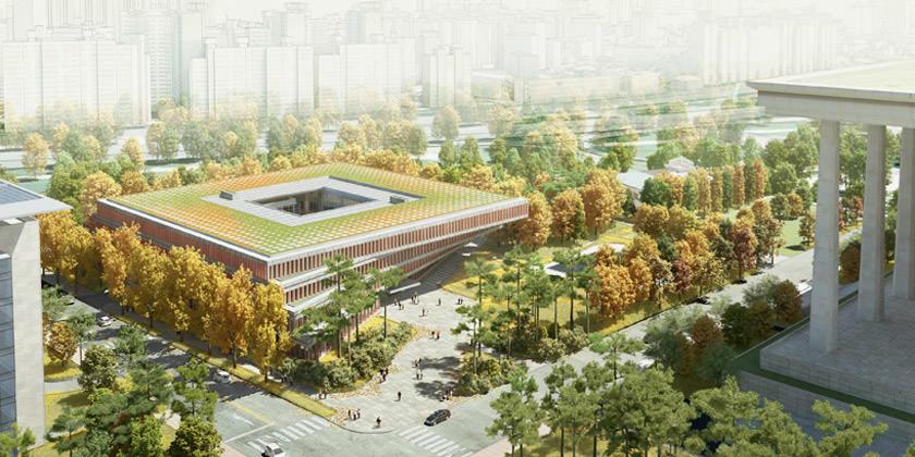 Проект бизнес-центра в Сеуле от H architecture и HAEAHN