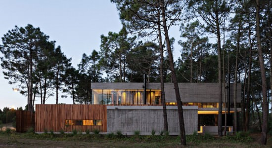 Дом посреди леса Marino House от ATV Arquitectos | фото, инфо