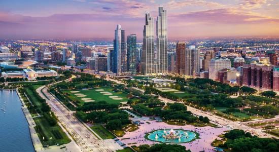 Проект башен-близнецов в Чикаго от Rafael Viñoly Architects