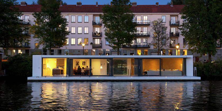 Дом на воде в Амстердаме от +31ARCHITECTS