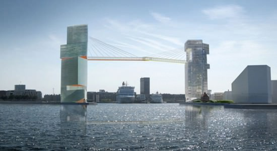 Проект комплекса Copenhagen Gate в Копенгагене от Steven Holl Architects