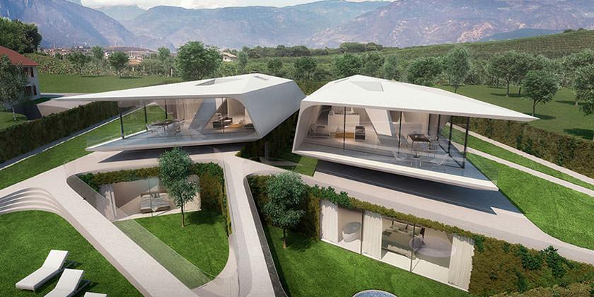 Проект виллы в Италии от Peter Pichler Architecture