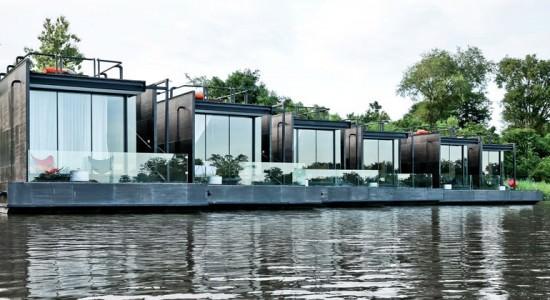 Плавающие дома X-Float от Agaligo Studio в Тайване