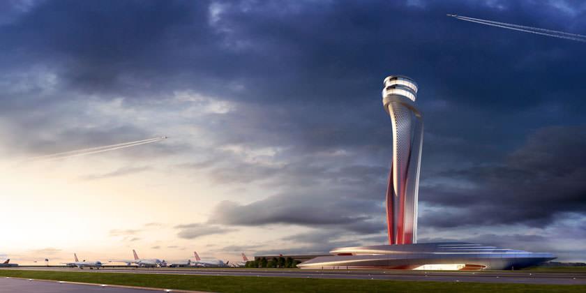 Aecom + Pininfarina построят диспетчерскую башню в новом аэропорту Стамбула