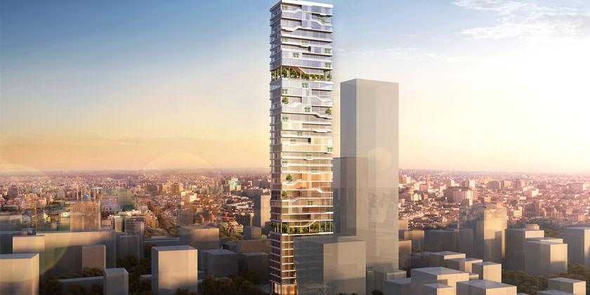 Проект небоскреба T3 в Бейруте от PARALX