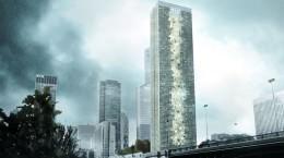 Проект небоскреба Skyframe в Париже от Tommaso Bernabò Silorata