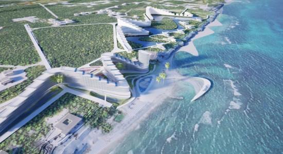 Проект курортного центра от TEN Arquitectos на острове Большой Кайман