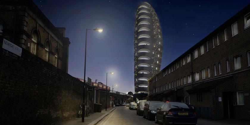 Проект небоскреба The Beacon в Лондоне от aLL Design