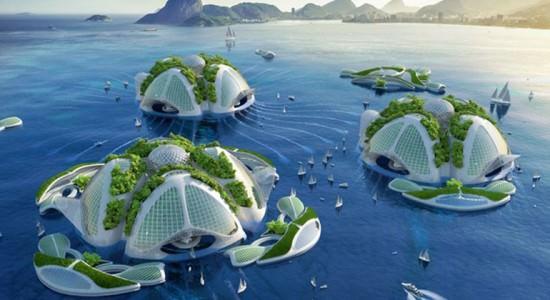 Проект плавающих островов Aequorea от Vincent Callebaut Architectures
