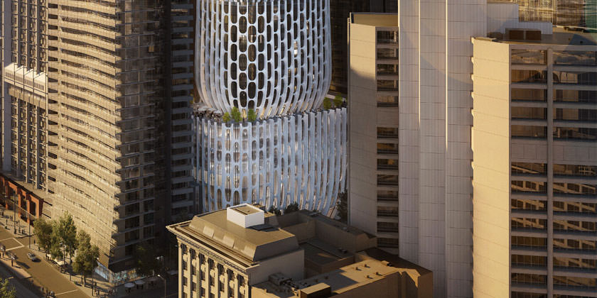 Проект небоскреба в Мельбурне от Zaha Hadid Architects