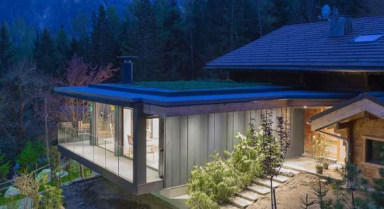 Chalet Solelyâ от Chevallier Architectes во Французских Альпах