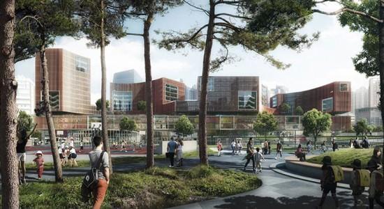 Проект культурного центра в Шанхае от Schmidt Hammer Lassen Architects