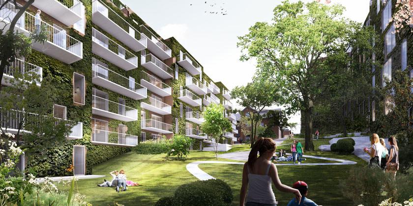 Проект жилого микрорайона Valdemars Have в Орхусе от Shmidt Hammer Lassen Architects
