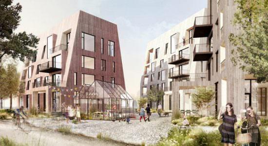 «Деревянный город» в Эребру, Швеция. Проект C.F. Møller
