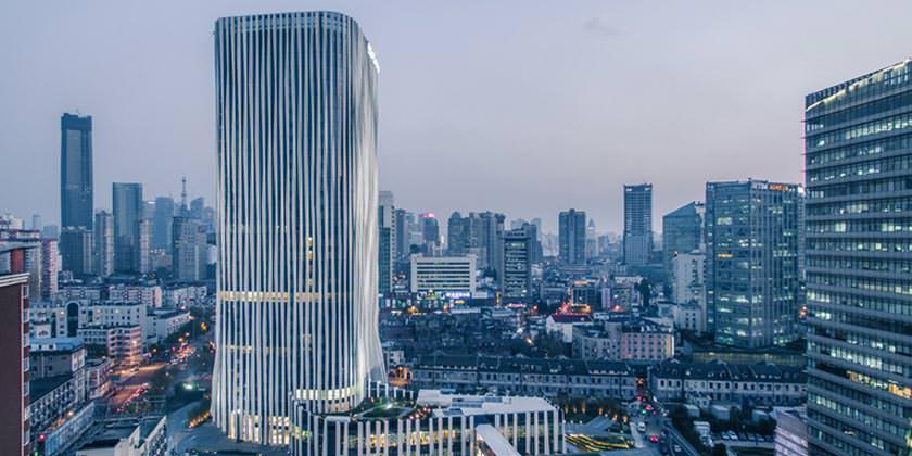 Небоскреб Honghou Soho в Шанхае. Проект Kengo Kuma